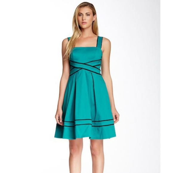 Teal Strappy Dress